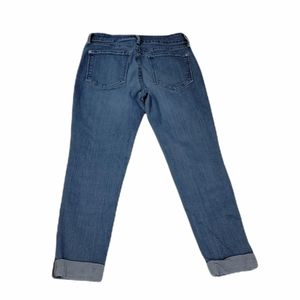 NYDJ Sylvia Relaxed Boyfriend Crop Capri Blue Jeans Size 2P Petite